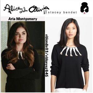 Alice + Olivia Intarsia legs sweater L